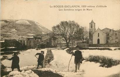 """CPA FRANCE 83 """"La Roque Esclapon sous la neige"""""""