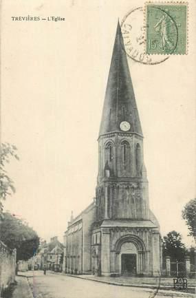 """CPA FRANCE 14 """"Trevières, l'Eglise"""""""