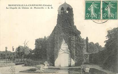 """CPA FRANCE 14 """"Banneville la Campagne, la chapelle du Chateau de Manneville"""""""