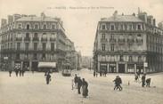 """44 Loire Atlantique / CPA FRANCE 44 """"Nantes, place Saint Pierre et rue de Châteaudun"""" / TRAMWAY"""