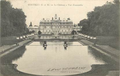 "/ CPA FRANCE 77 ""Rentilly, le château"""