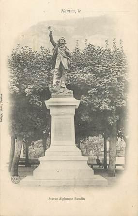 "/ CPA FRANCE 01 ""Nantua, statue Alphonse Baudin"""