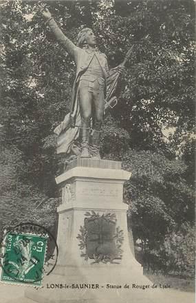 """/ CPA FRANCE 39 """"Lons Le Saunier, statue de Rouget de Lisle"""""""