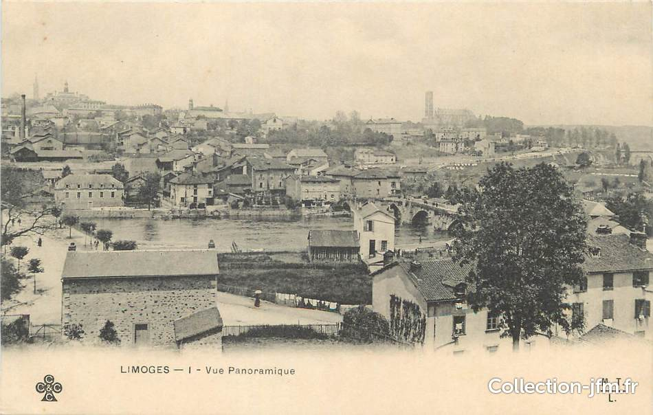 Cpa france 87 limoges vue panoramique 87 haute for 87 haute vienne france