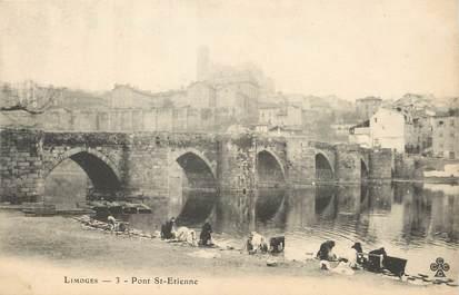 "/ CPA FRANCE 87 ""Limoges, pont Saint Etienne """