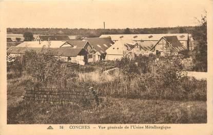 """/ CPA FRANCE 27 """"Conches, vue générale de l'usine Métallurgique"""""""