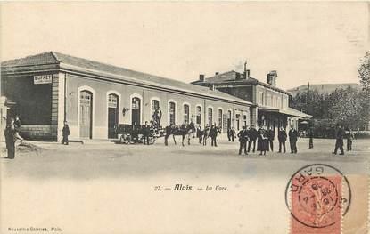"""CPA FRANCE 30 """"Alais / Alès, la gare"""""""