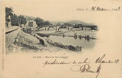 """CPA FRANCE 30 """"Alais / Alès, pont de Rochebelle"""""""