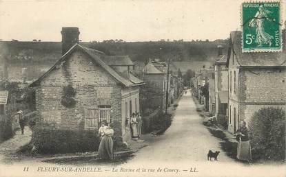 """/ CPA FRANCE 27 """"Fleury sur Andelle, la ravine et la rue de Courcy"""""""