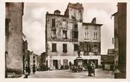 """20 Corse CPA FRANCE 20 """"Corse, Corté, statue et Place Gaffory"""""""