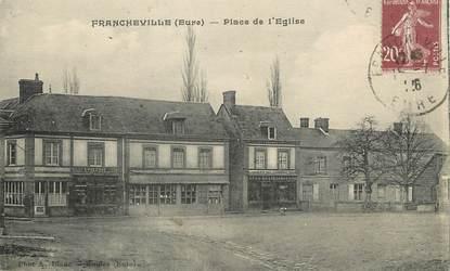 """/ CPA FRANCE 27 """"Francheville, place de l'église"""""""