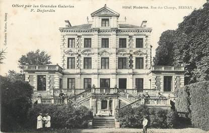 """/ CPA FRANCE 27 """"Bernay, hôtel moderne, rue des champs"""""""
