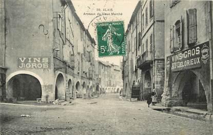 """CPA FRANCE 30 """"Alais / Alès, Arceaux du Vieux Marché"""""""