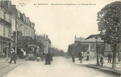 """CPA FRANCE 18 """"Bourges, bld de la République"""""""