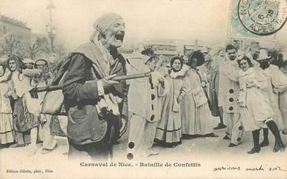 """CPA FRANCE 06 """"Nice, Carnaval, la Bataille de Confettis"""""""