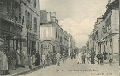"""/ CPA FRANCE 27 """"Evreux, rue Saint Amand et Saint Léger"""""""