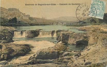 "CPA FRANCE 30 ""Environs de Bagnols sur Cèze, cascade de Sautadet"""