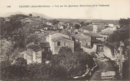 """CPA FRANCE 06 """"Cagnes, vue sur les quartiers Sainte Anne et le Vallonnet"""""""