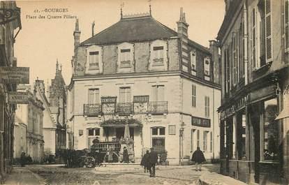 """CPA FRANCE 18 """"Bourges, Place des Quatre Piliers"""""""