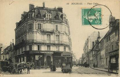 """CPA FRANCE 18 """"Bourges, Place Cujas"""""""