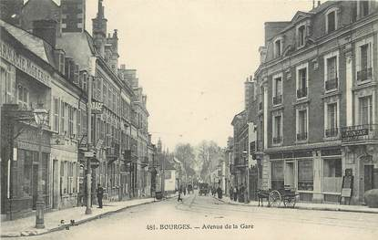 "CPA FRANCE 18 ""Bourges, avenue de la gare"""