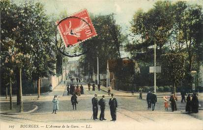 "CPA FRANCE 18 ""Bourges, avenue de la gare"""