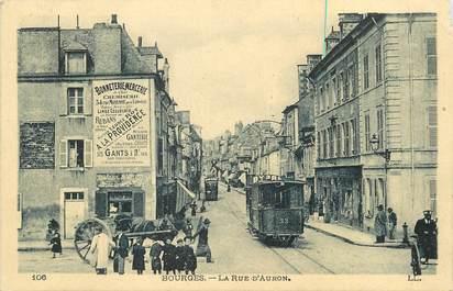 """CPA FRANCE 18 """"Bourges, la rue d'Auron"""""""