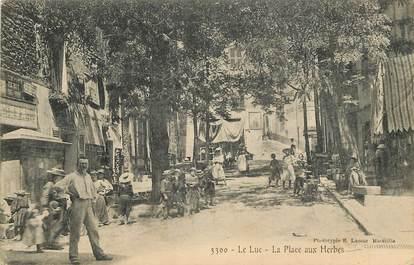"""CPA FRANCE 83 """"Le Luc, La Place aux Herbes"""""""