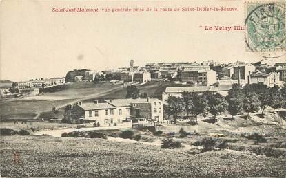 """CPA FRANCE 43 """"Saint Just Malmont, vue prise de la route de Saint didier la Séauve"""""""