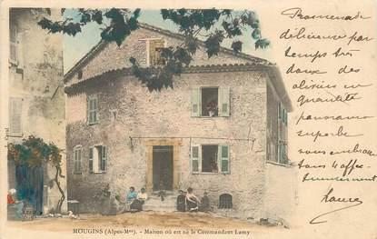 """CPA FRANCE 06 """"Mougins, maison où est néle Commandant Lamy"""""""
