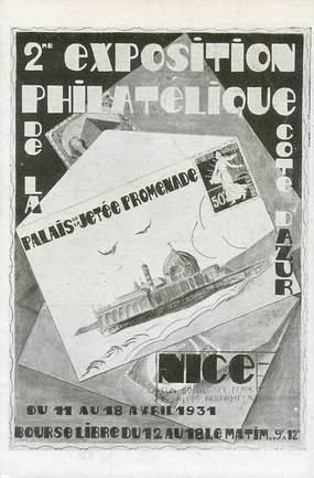 "CPA FRANCE 06 ""Nice, Exposition philatélique 1931"""