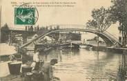 """54 Meurthe Et Moselle / CPA FRANCE 54 """"Toul, la passerelle"""" / PENICHE"""