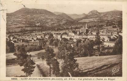 """CPA FRANCE 43 """"Saint Julien Chapteuil, vue générale et chaine du Meygat"""""""