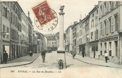 "/ CPA FRANCE 88 ""Epinal, la rue du Boudiou"""