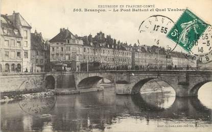 """/ CPA FRANCE 25 """"Besançon, le pont battant et quai Vauban"""""""