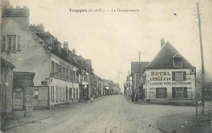 "/ CPA FRANCE 78 ""Trappes, La gendarmerie"""