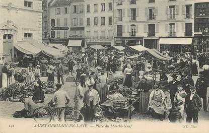 """/ CPA FRANCE 78 """"Saint Germain en Laye, place du marché neuf"""""""