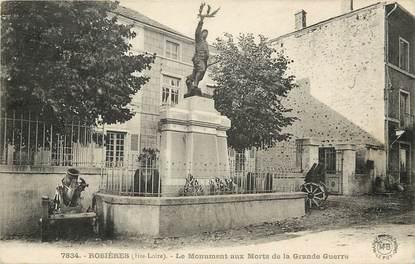 "CPA FRANCE 43 ""Rosières, monument aux morts"""