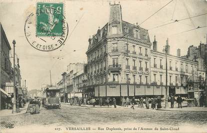 """/ CPA FRANCE 78 """"Versailles, rue Duplessis"""" / TRAMWAY"""