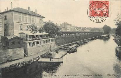 Cpa france 78 poissy le restaurant de l 39 esturgeon et for Agrandissement maison houilles