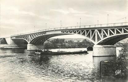 """/ CPSM FRANCE 78 """"Poissy, le nouveau pont et vue sur les carrières"""""""