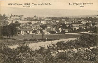 """CPA FRANCE 43 """"Monistrol sur Loire, vue générale sud est"""""""