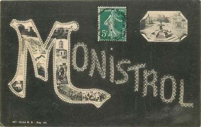 """CPA FRANCE 43 """"Monistrol"""" / Nom de la ville"""