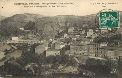 """CPA FRANCE 43 """"Monistrol d'Allier, rochers et gorges de l'Allier"""""""