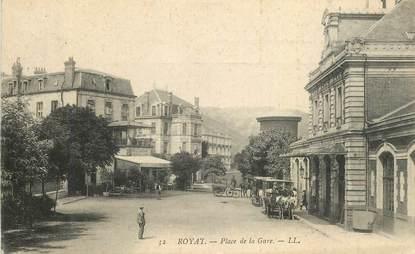 """CPA FRANCE 63 """"Royat, Place de la Gare"""""""