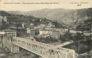 """43 Haute Loire CPA FRANCE 43 """"Monistrol d'Allier, pont métallique sur l'Allier"""""""
