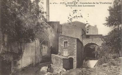 """CPA FRANCE 63 """"Royat, cascades de la Tiretaine et grotte des Laveuses"""""""
