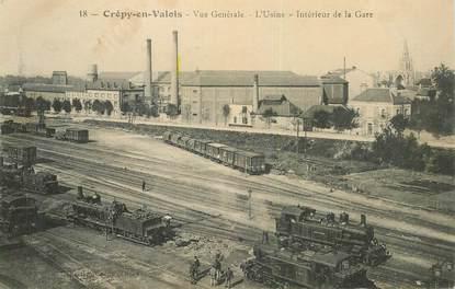"CPA FRANCE 60 ""Crépy en Valois, la gare"" / TRAIN"