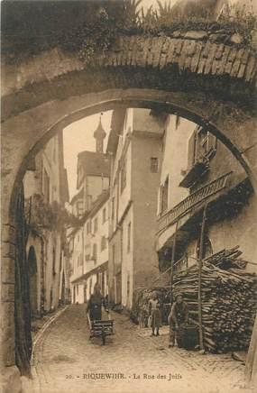 "CPA FRANCE 68 ""Riquewihr, la rue des Juifs"" / JUDAICA"