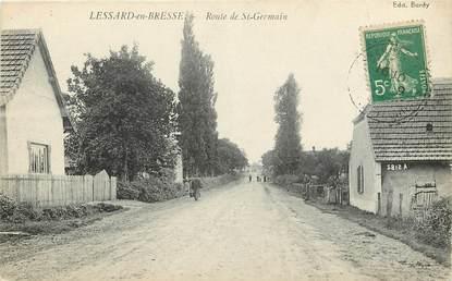 """CPA FRANCE 71 """"Lessard en Bresse, Rte de Saint Germain"""""""